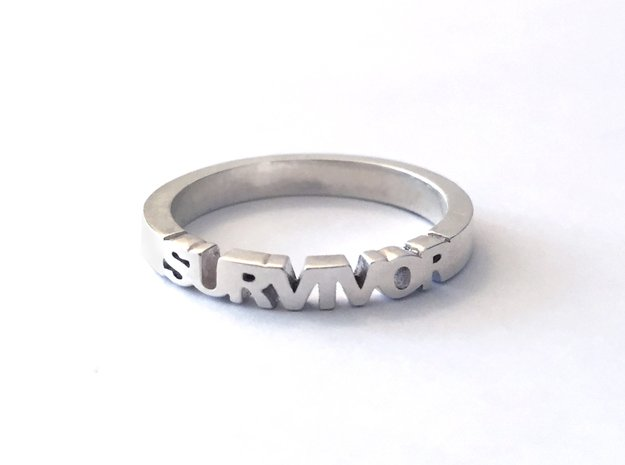 Survivor Ring in Polished Silver, 14k Gold Plated  in Polished Silver: 8 / 56.75