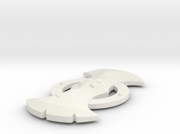 """Lynel Shield - 3"""" replica in White Natural Versatile Plastic"""