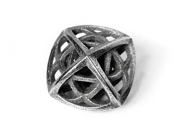 Octaplex Pendant in Polished Bronzed Silver Steel