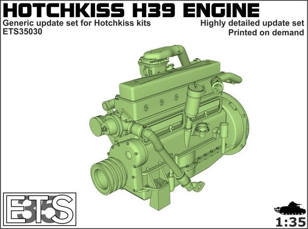 ETS35030 - Hotchkiss H39 Engine in Smooth Fine Detail Plastic