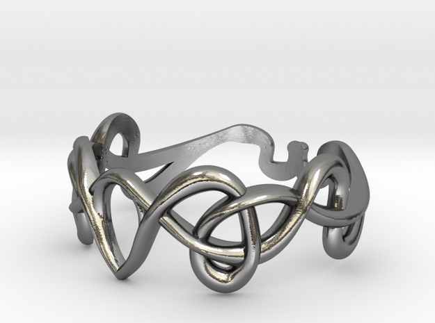 Art nouveau ring  in Polished Silver: 7 / 54