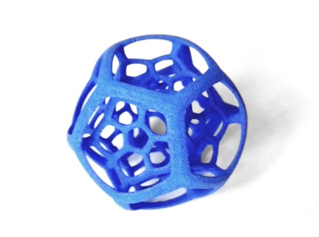 Dodecaplex in Blue Processed Versatile Plastic