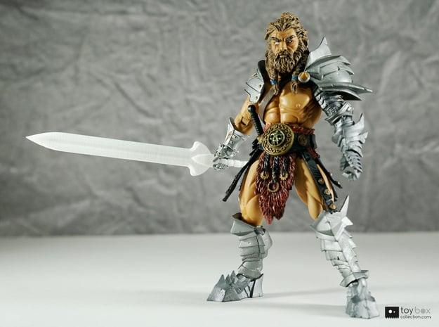 Champion blade for Mythic Legions in White Natural Versatile Plastic