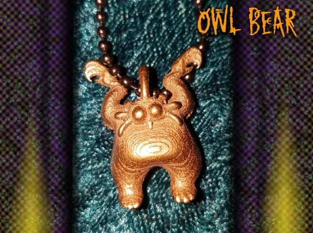 Owl Bear in Polished Bronze Steel
