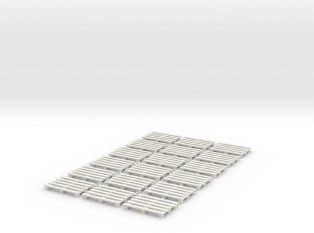 1:50 Pack 18 Paletten in White Natural Versatile Plastic