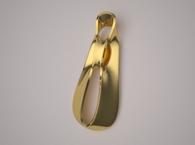Triple Cube Gold 036 in 14K Yellow Gold