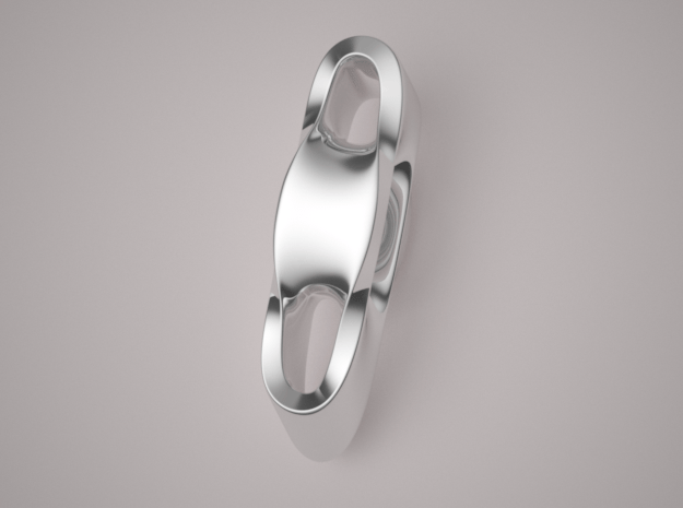 Triple Cube Silver 003 in Polished Silver