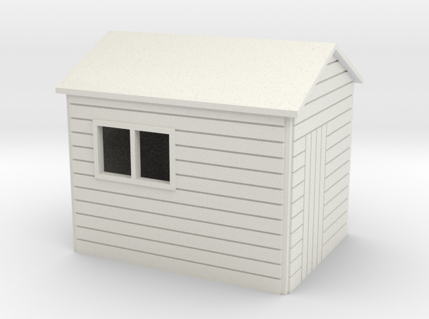 Garden Shed  8 x 6 Apex Roof oo 4mm in White Natural Versatile Plastic