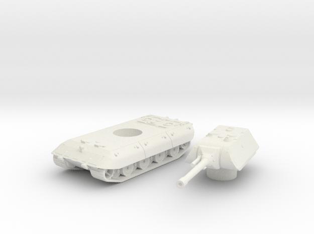 E-100 tank (Germany) 1/100 in White Natural Versatile Plastic