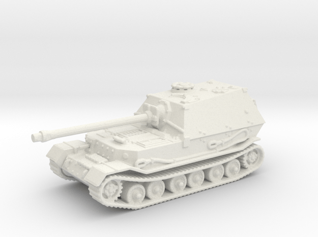 Elefant tank (Germany) 1/144 in White Natural Versatile Plastic