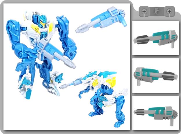 Legion TFP Rippersnapper Blaster in White Natural Versatile Plastic