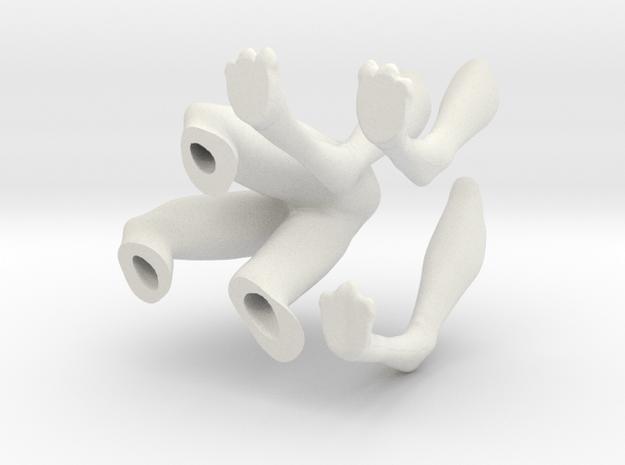 Arex Legs 1:6 scale Version 2 in White Natural Versatile Plastic