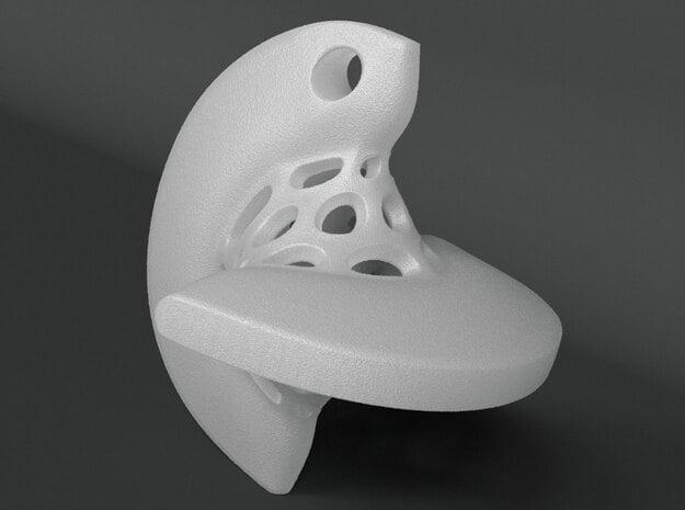 Sphericon Pendant in White Processed Versatile Plastic
