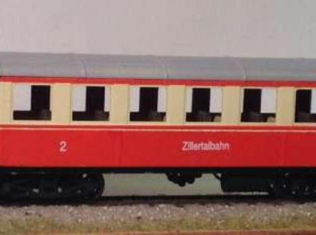 ZB (H0e) - ex-Payerbach Personenwagen B4i 35-38 in Smooth Fine Detail Plastic