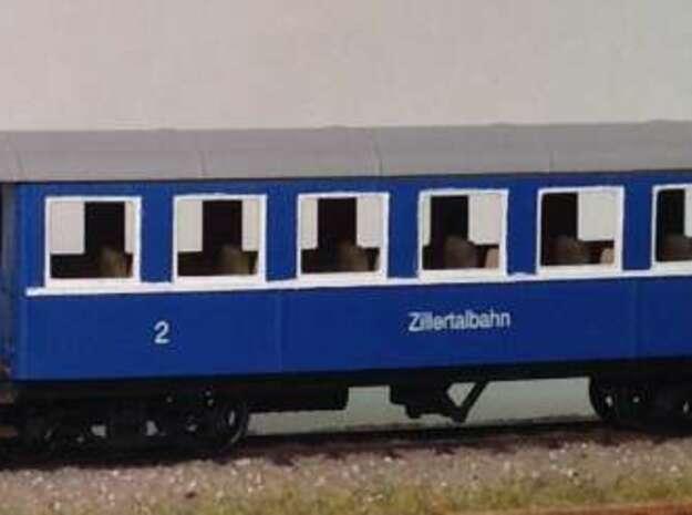 LBPH (H0e) - Payerbach Personenwagen BW11-14 in Smooth Fine Detail Plastic