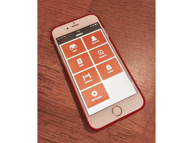 iPhone 6/6S Garmin Mount Case in Red Processed Versatile Plastic