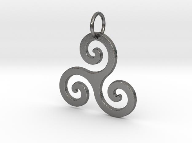 Triskelion in Polished Nickel Steel