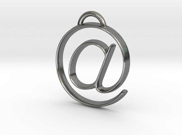 at symbol in Polished Silver