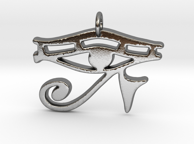 Eye of RA in Polished Silver