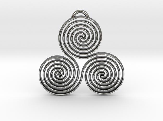Triskele II in Polished Silver