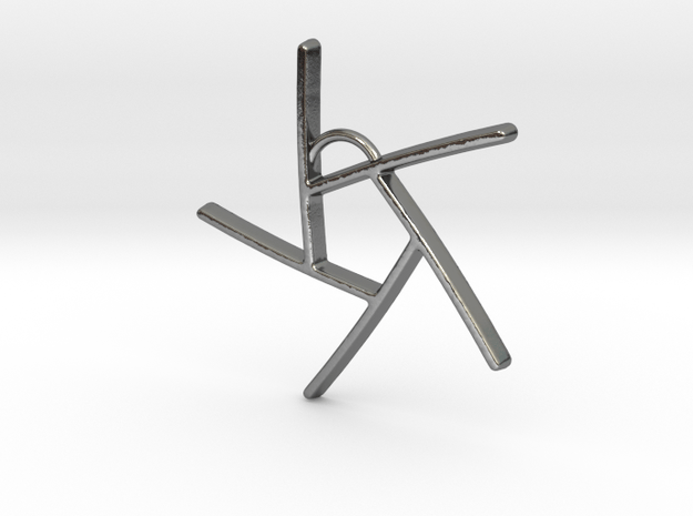Five Lines II - Home in Polished Silver