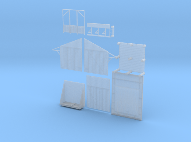 10' X 10' Shelter Shed Variation 1 (Type 2) in Smooth Fine Detail Plastic