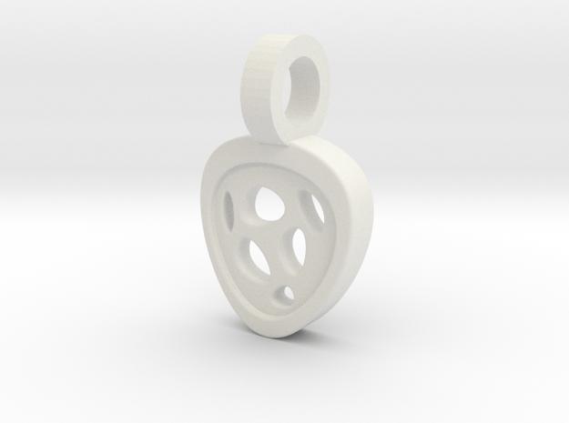 Luna Pendant in White Natural Versatile Plastic