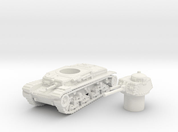 Panzer 35(t) (Czechoslovakia) 1/100 in White Natural Versatile Plastic