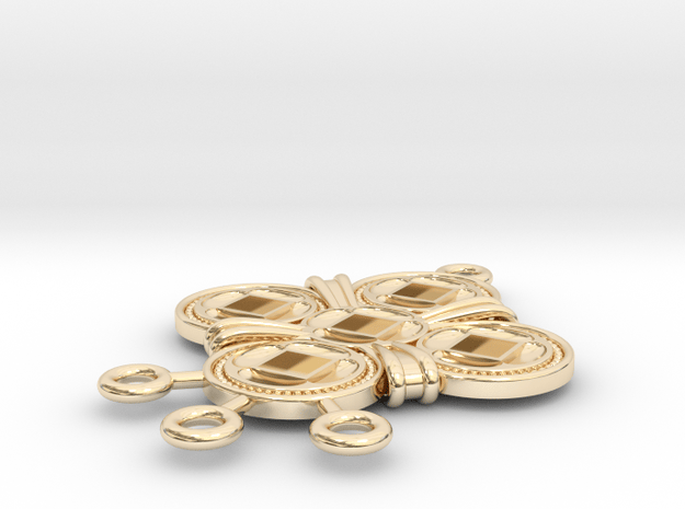Pendant Arcus in 14k Gold Plated Brass