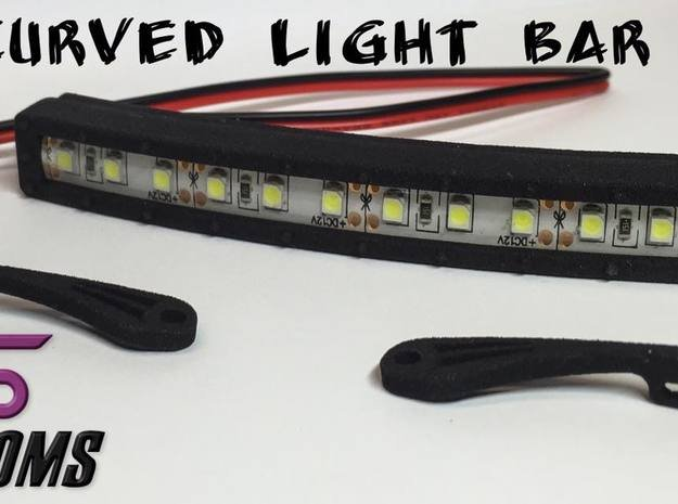 """4"""" Curved Light Bar By VS Customs in White Natural Versatile Plastic"""