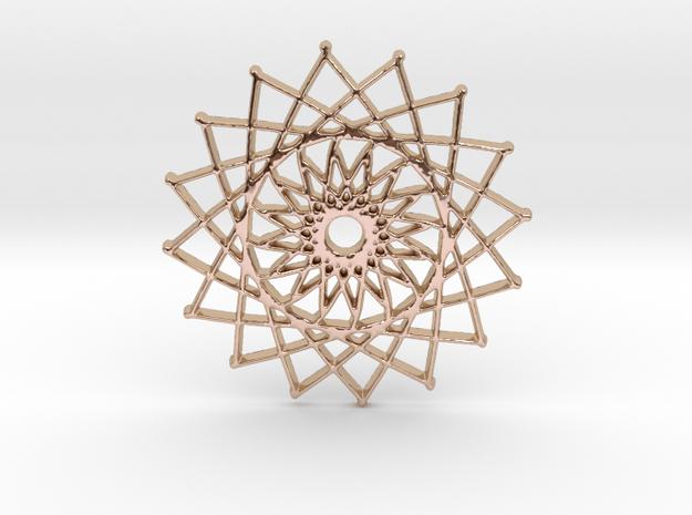 Internal Sun in 14k Rose Gold Plated Brass