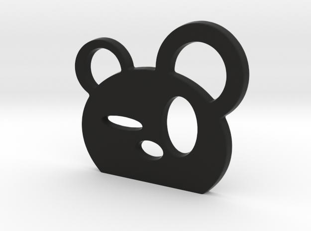 Drunk Panda! in Black Natural Versatile Plastic
