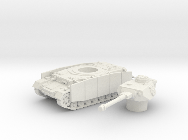 Pz.Kpfw. IV Ausf. tank (Germany) 1/100 in White Natural Versatile Plastic