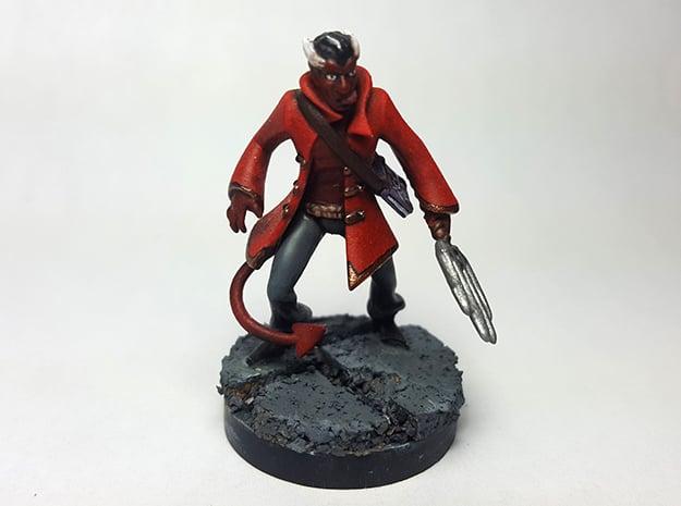 Tiefling Warlock in Smooth Fine Detail Plastic