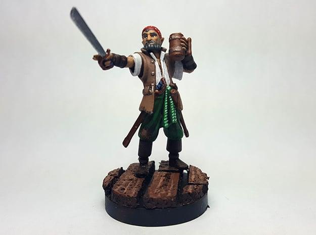 Half Elf Pirate in Smooth Fine Detail Plastic