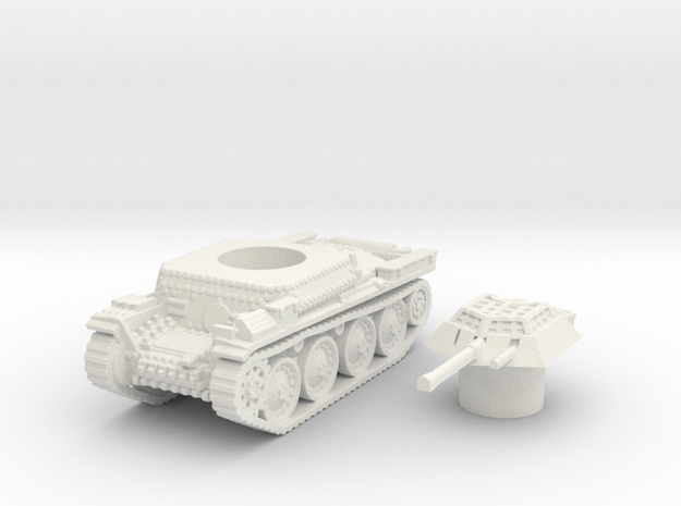Panzer 38(t) (Czechoslovakia) 1/100 in White Natural Versatile Plastic