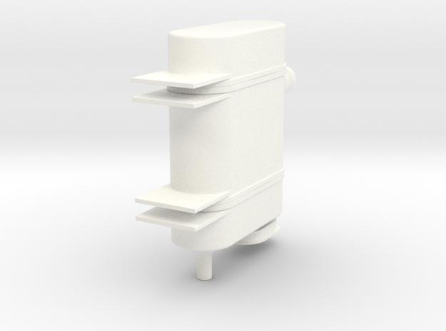 1.4 LAMA OIL TANK SMALL in White Processed Versatile Plastic