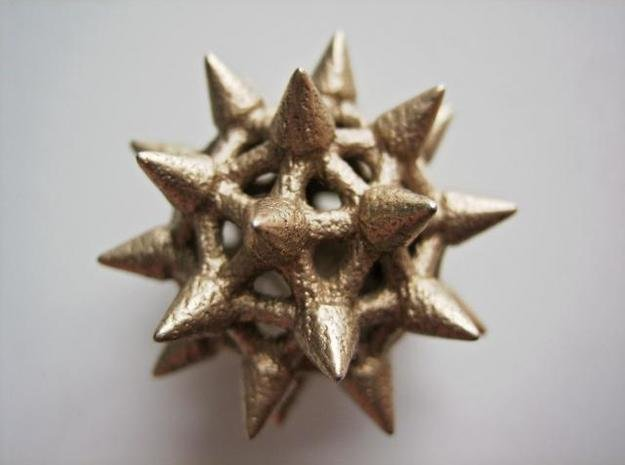 Spike Ball Six in Polished Bronzed Silver Steel