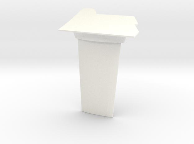 1.8 FLAT ANTENNA SUPER PUMA in White Processed Versatile Plastic