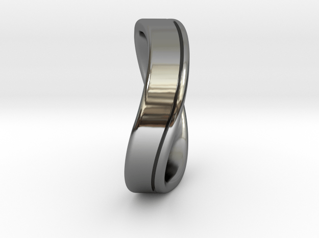 Wedding Ring INFINITY. Comfort fit. Size 13