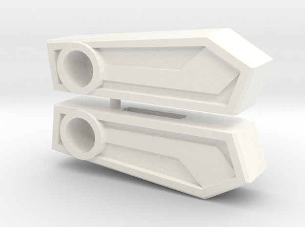 Sixman Wing Toppers in White Processed Versatile Plastic