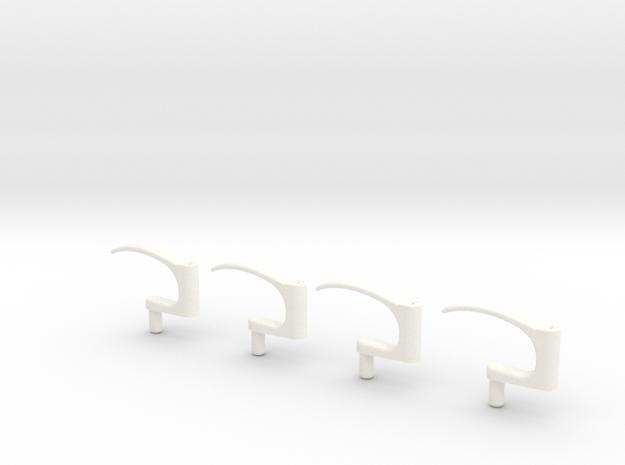 1.6 POIGNEES PORTES EC in White Processed Versatile Plastic