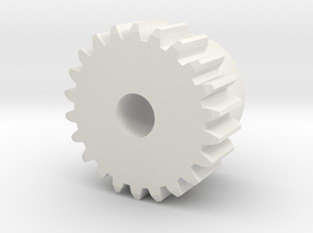 Ritzel 22 Zaehne (Ersatzteil) in White Natural Versatile Plastic