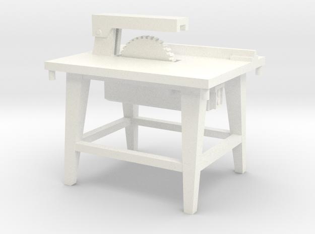 1:50 Bauzubehör Kreissäge / Table Saw in White Processed Versatile Plastic