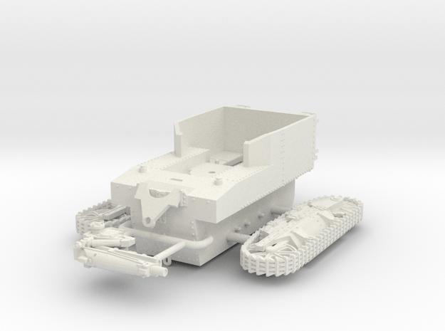 1/72 T1 HMC Howitzer Motor Carriage in White Natural Versatile Plastic