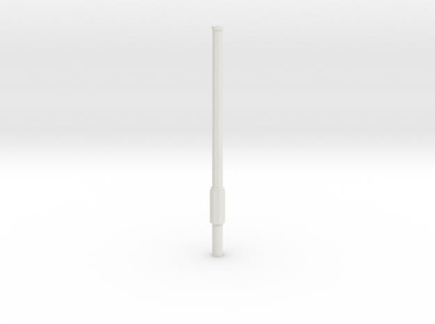 Mast DDR Parklampe 4m in White Natural Versatile Plastic