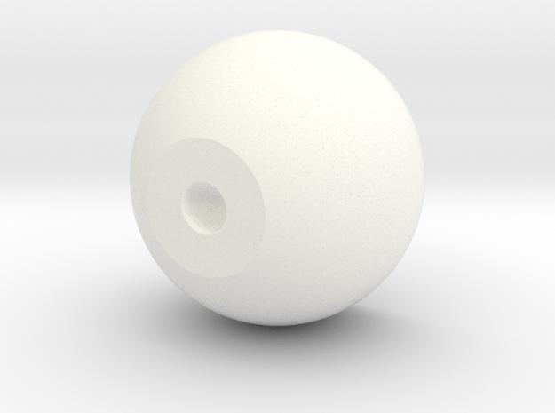 Inner Eye Core 26mm 12mm Iris 4mm Pupil in White Processed Versatile Plastic
