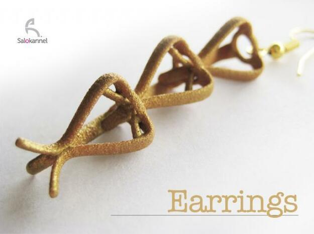 TULIP-earrings in White Natural Versatile Plastic