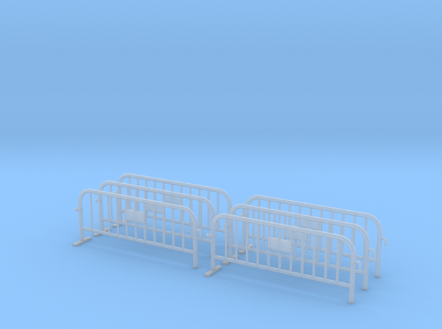 6x PACK 1:50 Small construction fence (One feet) in Smooth Fine Detail Plastic
