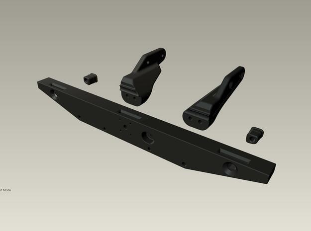 Raffee Land Rover Rear Body Mount (SCX10) in Black Natural Versatile Plastic